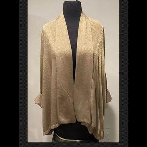 Ralph Lauren plus sz 1X gold metallic cardigan